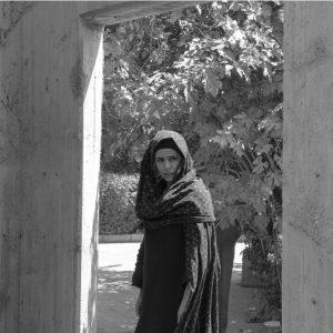 Dancer Shekiba Bahramian in concrete door
